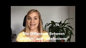 تفاوت بین anrufen و telefonieren